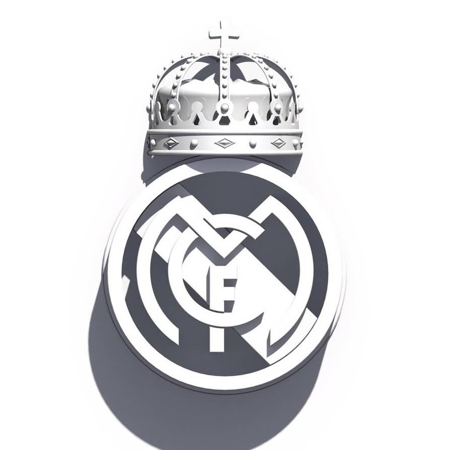 Mind Blowing Cool Real Madriad Tattoo Design Stencil