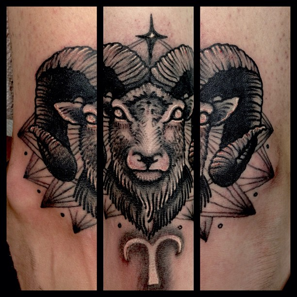 Mind Blowing Scarification Aries Face Tattoo