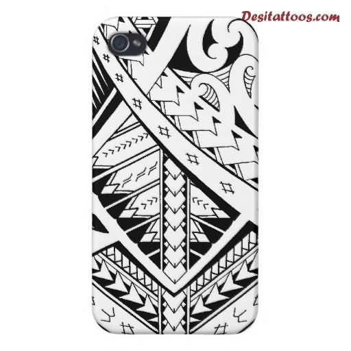 Mobile Back Cover Amazing Samoan Tattoo