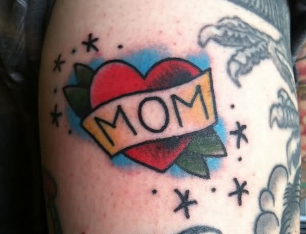 Mom Banner Lovely Heart Tattoo