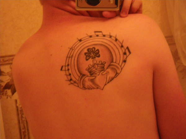 Music Notes Nice Claddagh Small Shamrock Tattoo