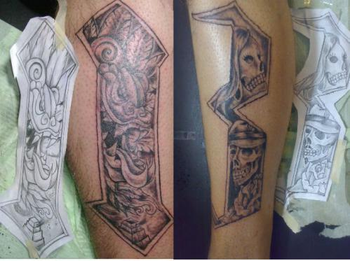 New Style Thirteen Number Tattoo On Arm