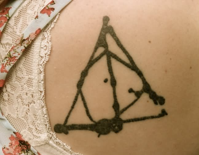 Nice And Amazing Deathly Hallows Simple Tattoo