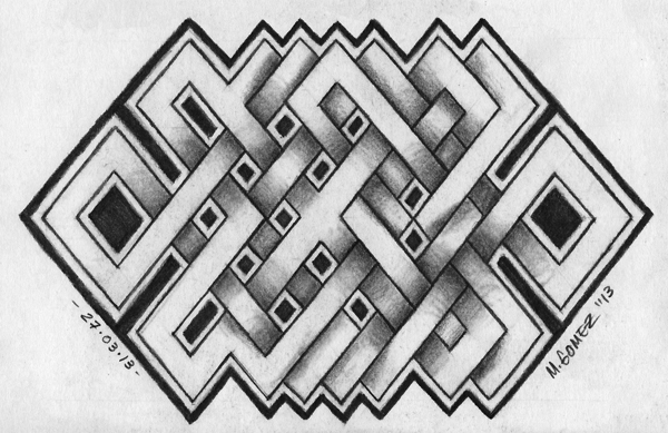 Nice And Amazing Endless Knot Tattoo Design Idea On Paper
