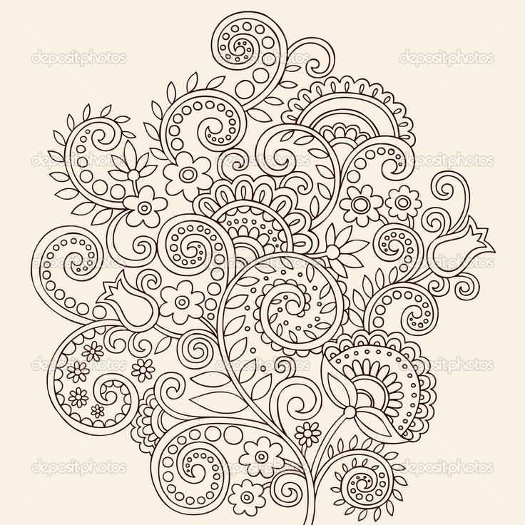 Nice And Amazing Great Paisley Pattern Tattoo Design (2)