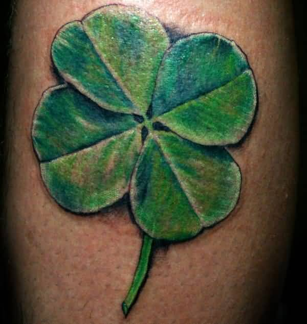 Nice And Amazing Large Style Shamrock Tattoo Design