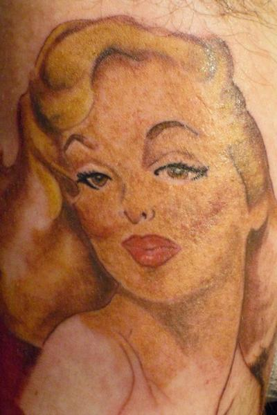 Nice And Amazing Marilyn Monroe Tattoo Design Idea