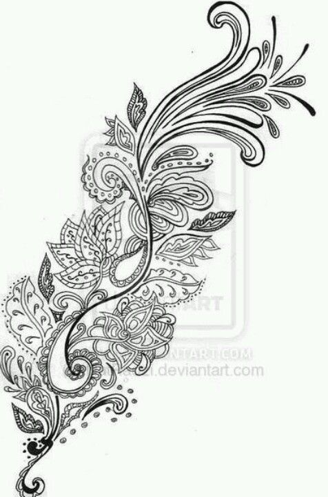 Nice And Amazing Paisley Pattern Tattoo Design