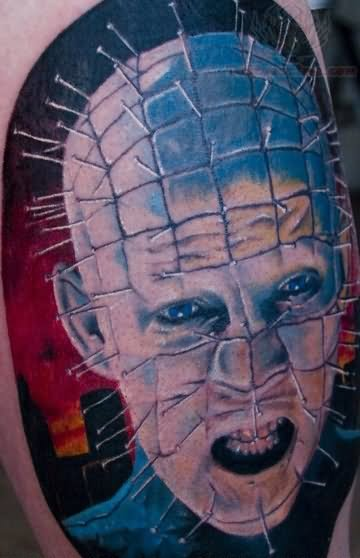 Nice And Amazing Pinhead Tattoo Design Idea