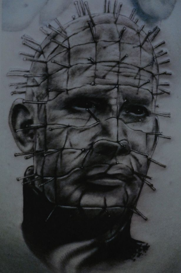 Nice And Amazing Pinhead Tattoo Design