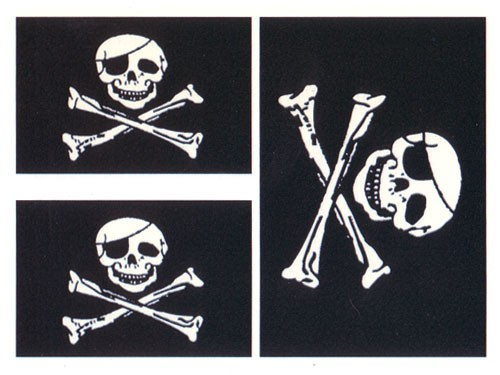 Nice And Amazing Stencil Jolly Roger Tattoo