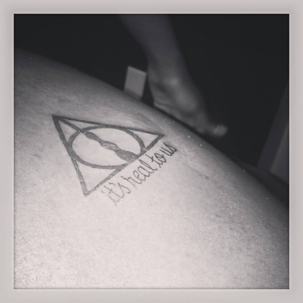 Nice And Simple Deathly Hallows Tattoo