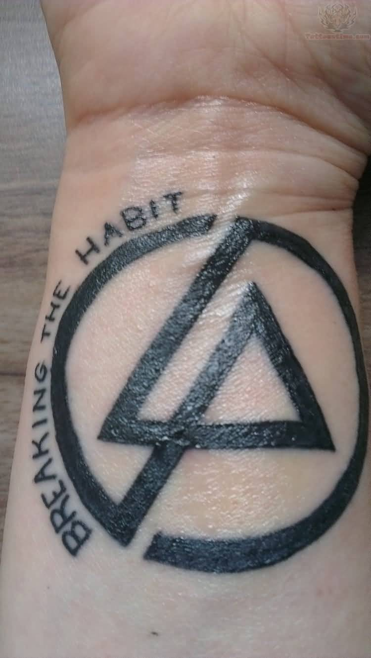 Nice And Simple Linkin Park Tattoo Design Idea