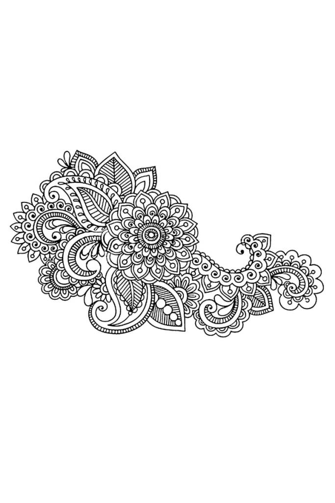 Nice And Simple Paisley Pattern Tattoo Design Idea (2)