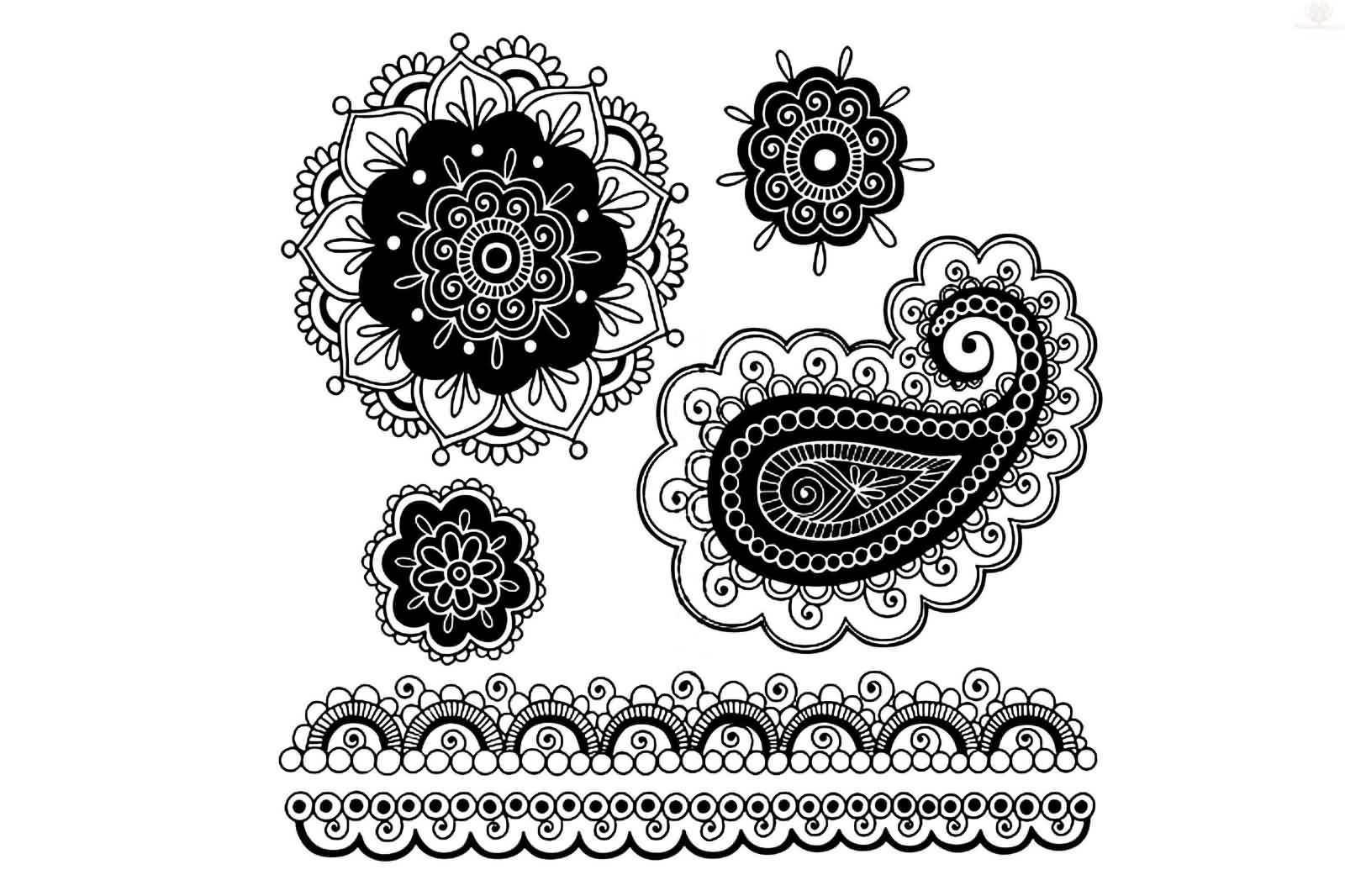 Nice And Simple Paisley Pattern Tattoo Design Idea