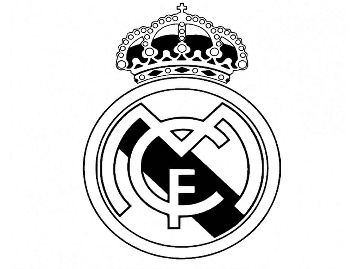Nice And Simple Real Madrid Logo Tattoo Stencil