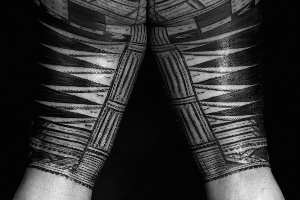 Nice And Simple Samoan Tattoo Design