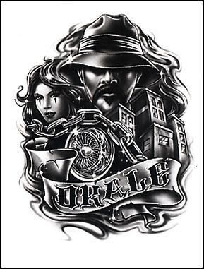 Nice Banner With Simple Latino Warrior With Girl Tattoo