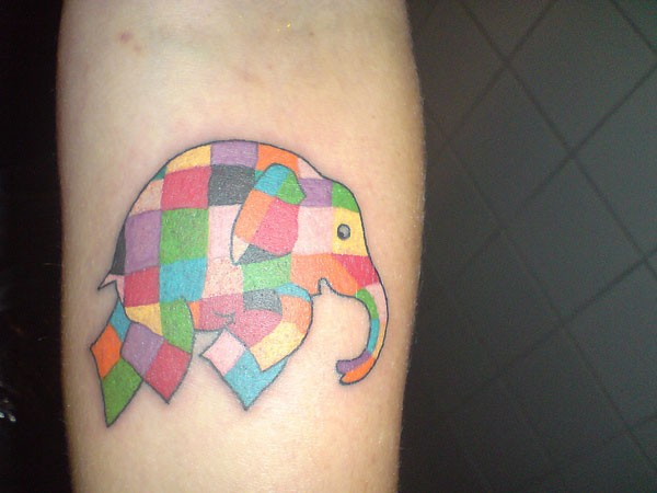 Nice Colorful Crazy Mosaic Tattoo Design