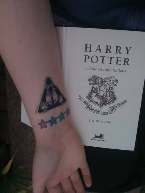 Nice Colorful Stars Amazing Hallows Tattoo