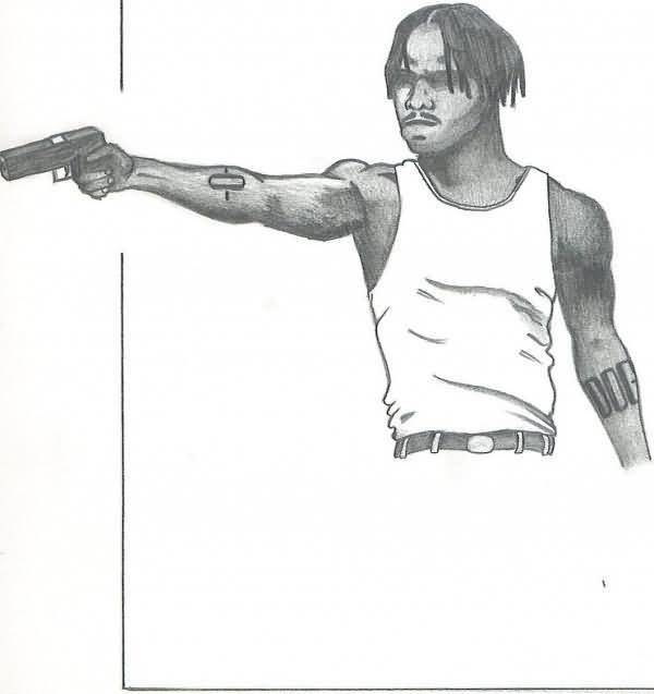 Nice Gangsta Tattoo Drawing
