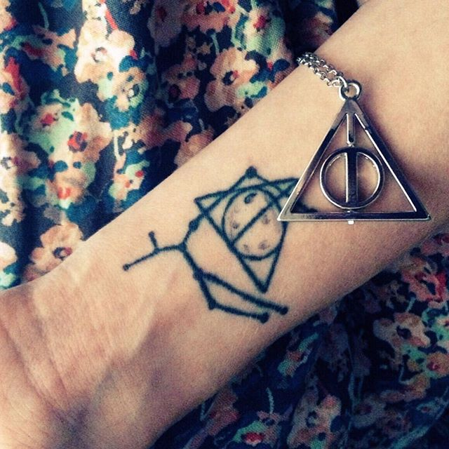 Nice Hallows Moon Tattoo On Wrist