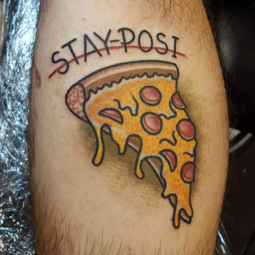 Nice Letter Amazing Pizza Tattoo (2)