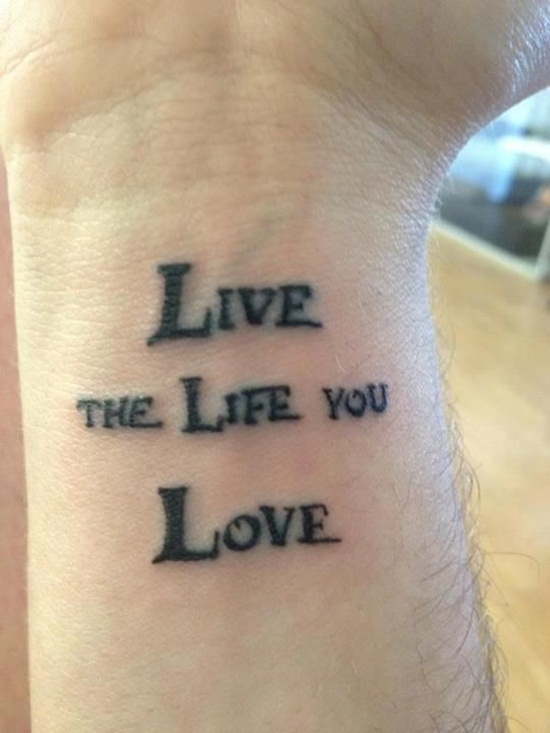 Nice Live Love Life Tattoo On Wrist