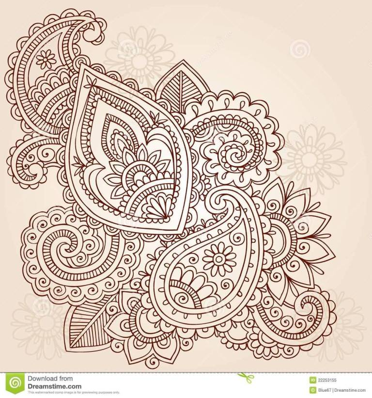 Nice Looking Amazing Paisley Pattern Tattoo Design