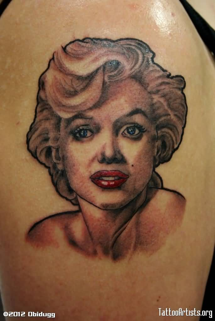 Nice Marilyn Monroe Tattoo Design Idea Make On Shoulder