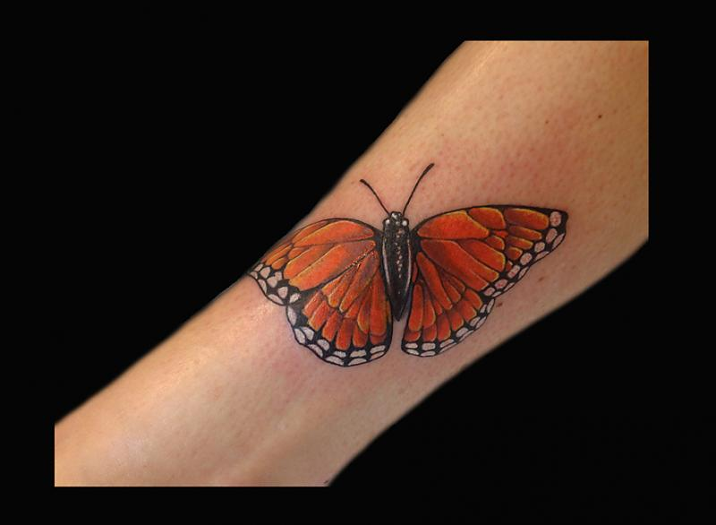 Nice Monarch Butterfly Tattoo Design Idea