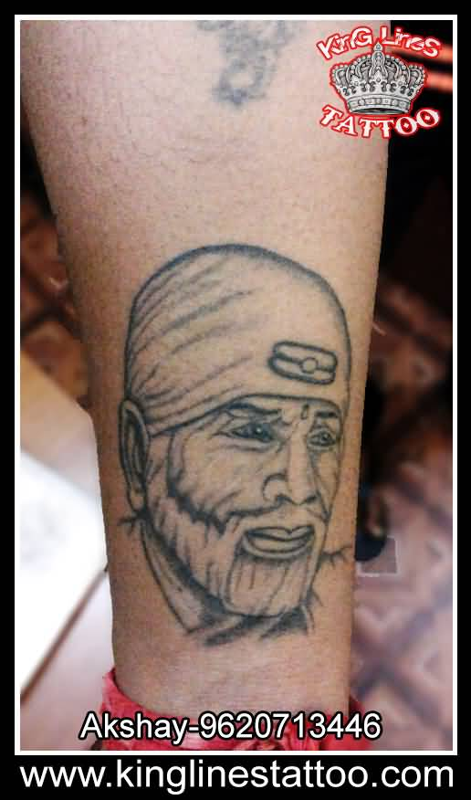 Nice One Sai Baba God Face Tattoo