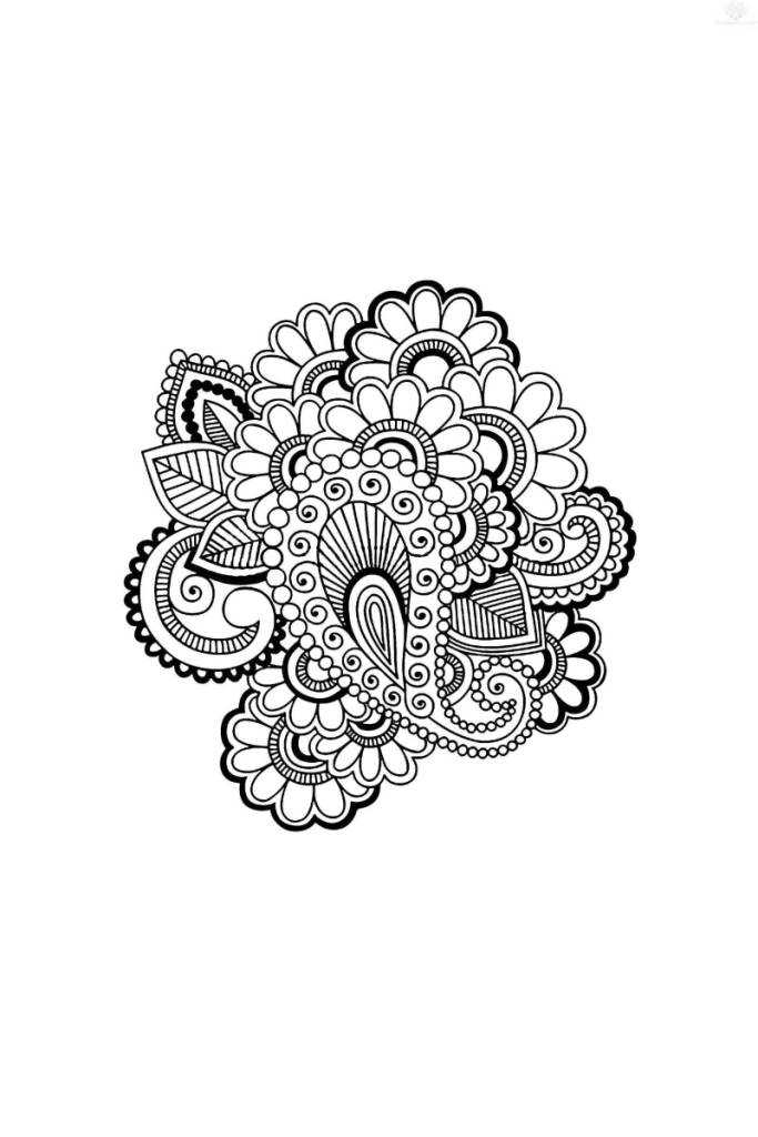 Nice Paisley Pattern Flower Tattoo Design
