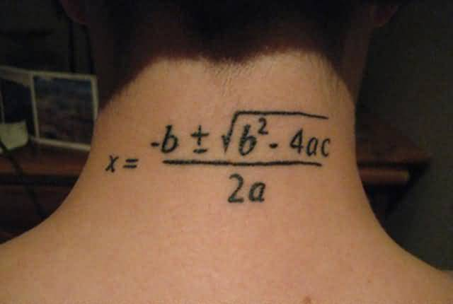 Nice Physics Numerical Formula Tattoo On Nope