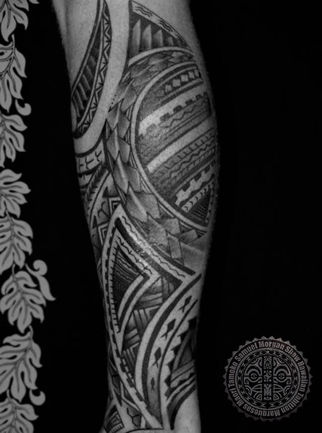 Nice Samoan Tattoo Idea For Sleeve