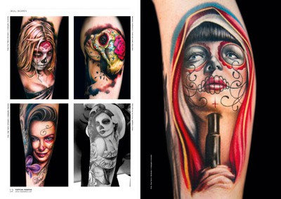 Nice Samples Of Amazing Catrina Face Tattoo