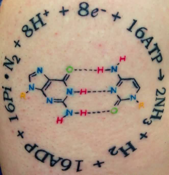 Nice Science Equation Tattoo Design