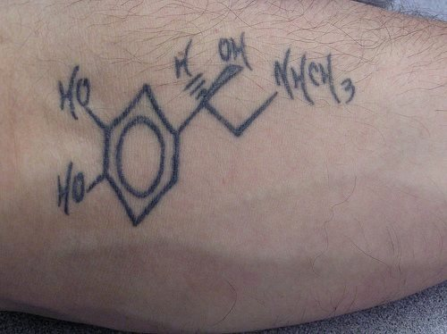 Nice Simple Science Equation Tattoo Design