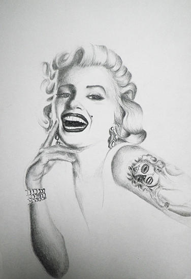 Nice Sketch Of Marilyn Monroe Tattoo Drawings