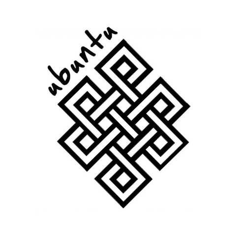 Nice Text With Black Ink Amazing Endless Knot Tattoo Stencil