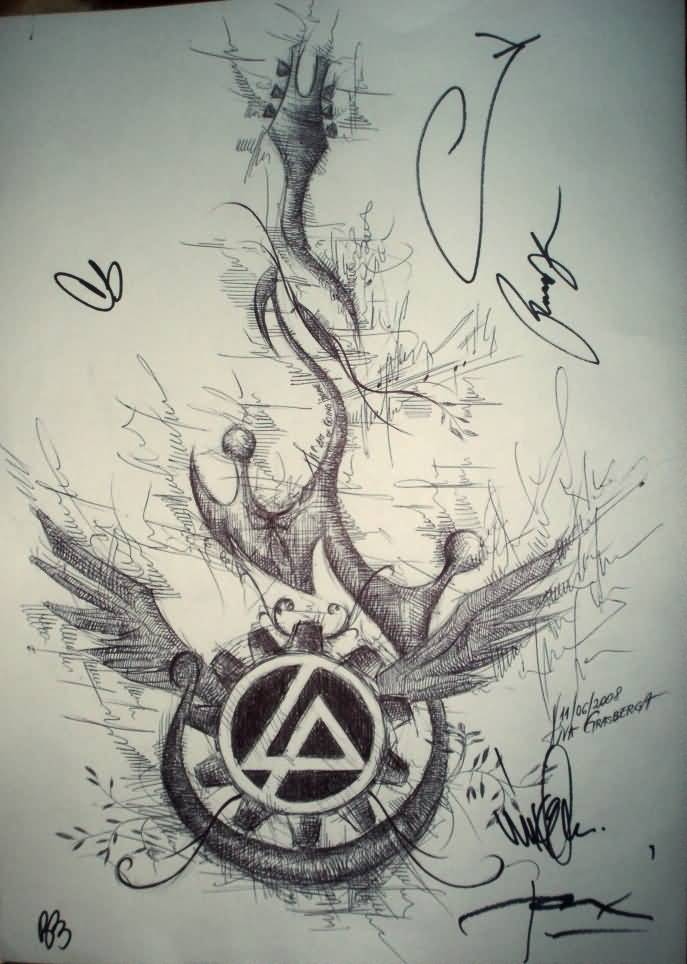 Nice Wings Amazing Linkin Park Symbol Tattoo (3)