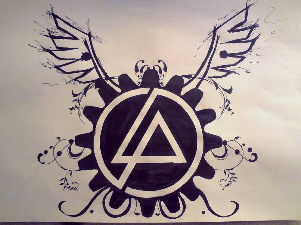 Nice Wings Amazing Linkin Park Symbol Tattoo