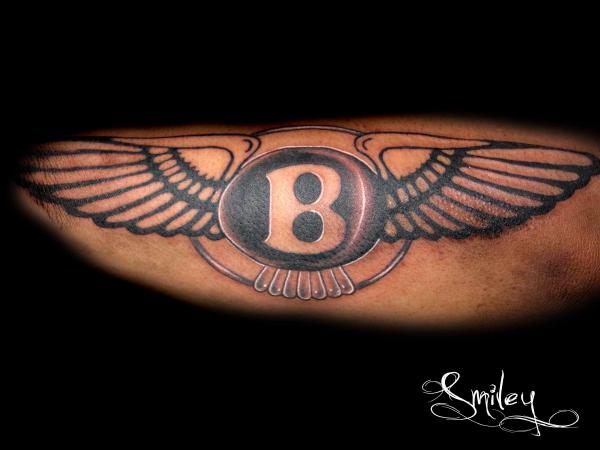Nice Wings Bentley Logo Tattoo