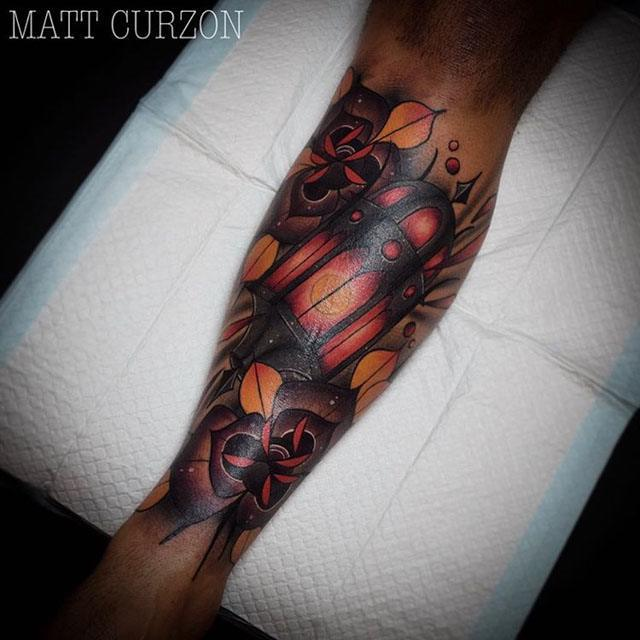 Old Lantern Tattoo