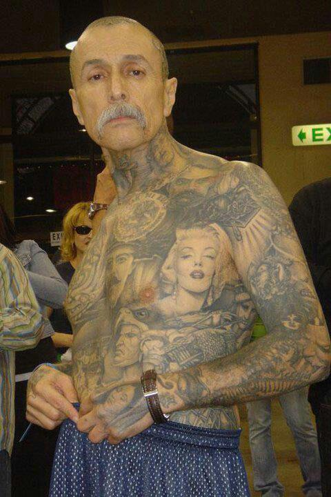 Old Men Front Full Body Latino Tattoo