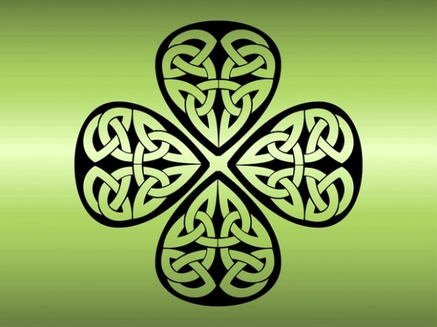Outstanding Black Ink Nice Celtic Knot Shamrock Tattoo