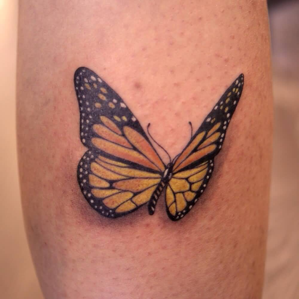 Outstanding Classy Cool Monarch Butterfly Tattoo Design Idea