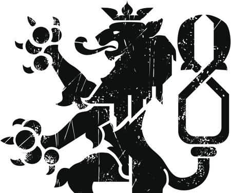 Outstanding Scottish Black Lion Tattoo Stencil