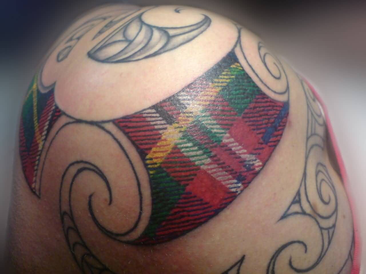 Outstanding Simple Polynesian Scottish Tattoo