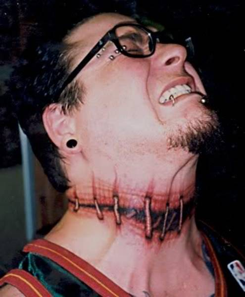 Painful Stiches Extreme Tattoo For Men